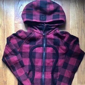 Lululemon mini check scuba hoodie size 6